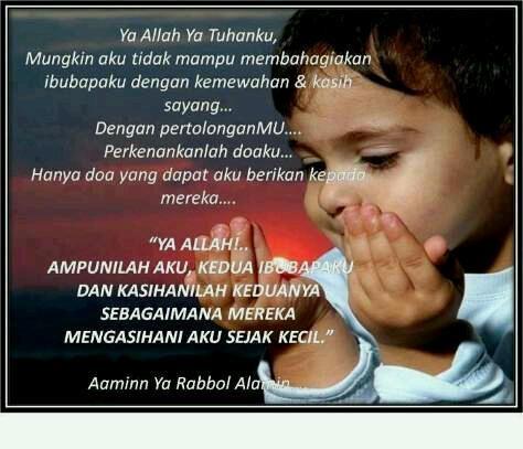 Doa seorang anak untuk ibu-bapa