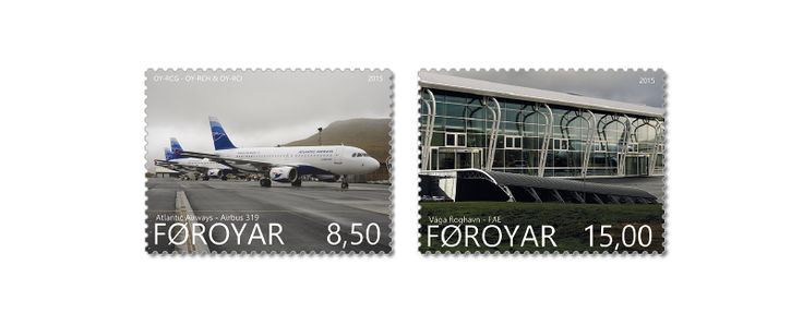 COLLECTORZPEDIA: Faroe Islands Stamps Vágar Airport