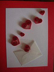 Corazones de filigrana (Georgettedf) Tags: red art love blanco paper rojo arte heart handmade amor card valentines papel sobre carto quilling tarjeta tarjetas corazones filigrana