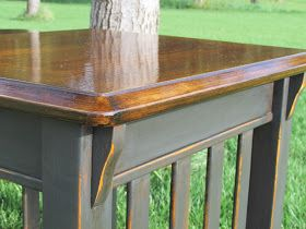 13 County Custom Finishes: Mission Style Furniture Refinished in ASCP Graphite
