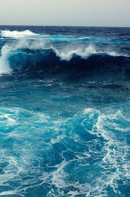 Ocean blue.