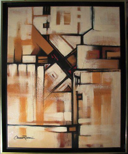 Australian artist Gayle Russell original acrylic abstract  Aftermath