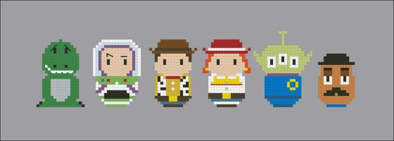 Toy story chibi pattern by cloudsfactory on Etsy