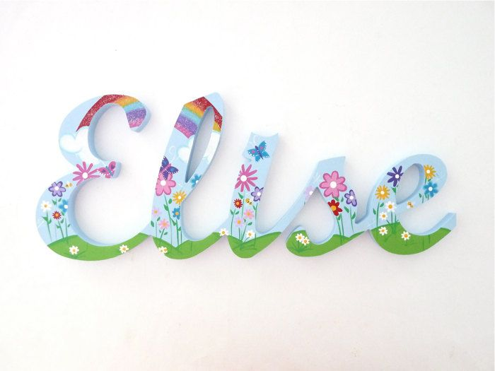 Wooden names Door signs Custom name signs Baby name sign
