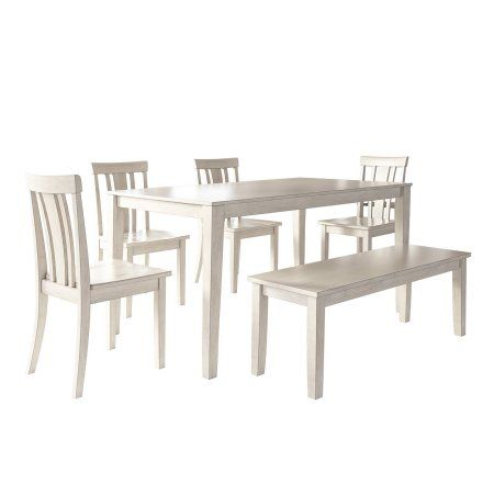 best 25 dining set with bench ideas on pinterest dining table with bench bench dining set. Black Bedroom Furniture Sets. Home Design Ideas