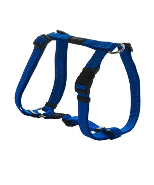 ROGZ UTILITY DOG H-HARNESS - BLUE. Available from www.nuzzle.co.za