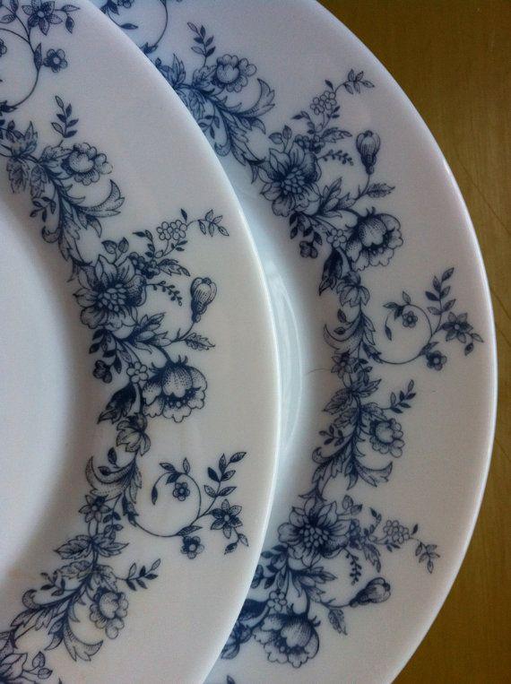 Arcopal France eight (8) salad plates Glenwood pattern 7 7/8  plus bonus mug & 122 best Arcopal Pryex from France images on Pinterest | Milk glass ...