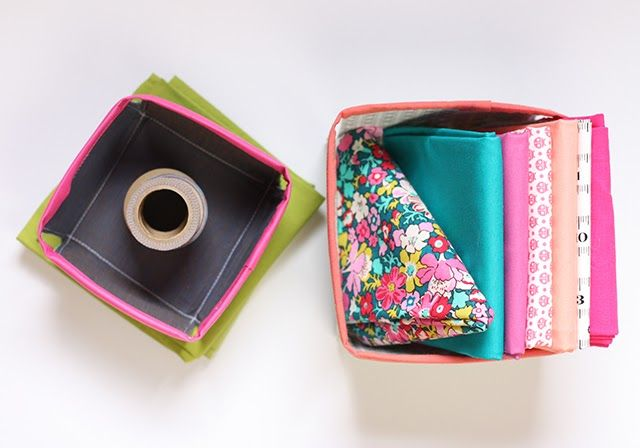 Keep things organized with these little fabric sewing baskets! Get the DIY from Noodlehead