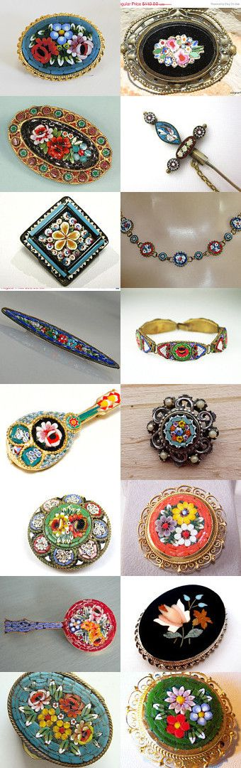Mosaic Marvels For Monday - GVS Shops by Ruth on Etsy--Pinned with TreasuryPin.com