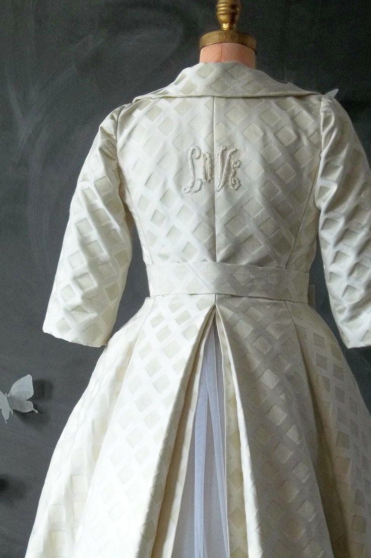Bride's Formal Vintage Brocade Coat by SEAMS on Etsy. $599.00, via Etsy.