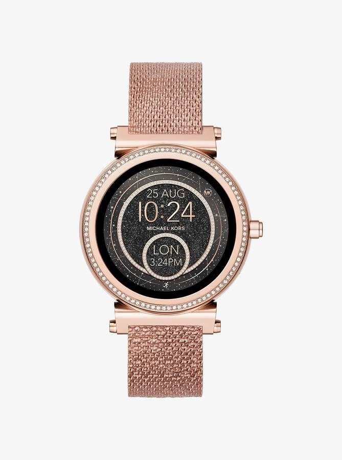 496d7d6a6a68 Michael Kors Sofie Rose Gold-Tone Smartwatch Strap in 2019