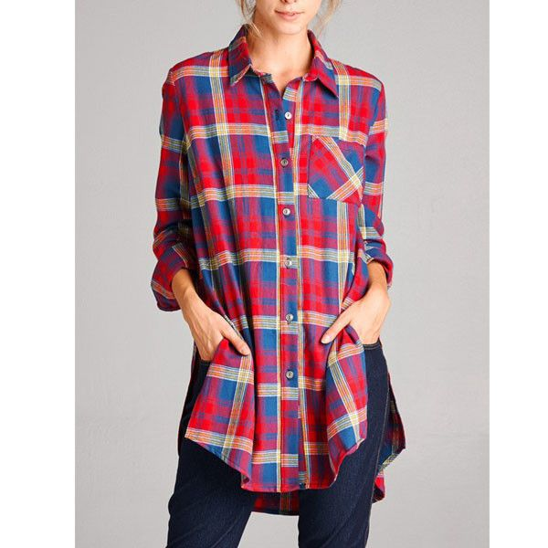 Mad For Plaid Tunic - Red