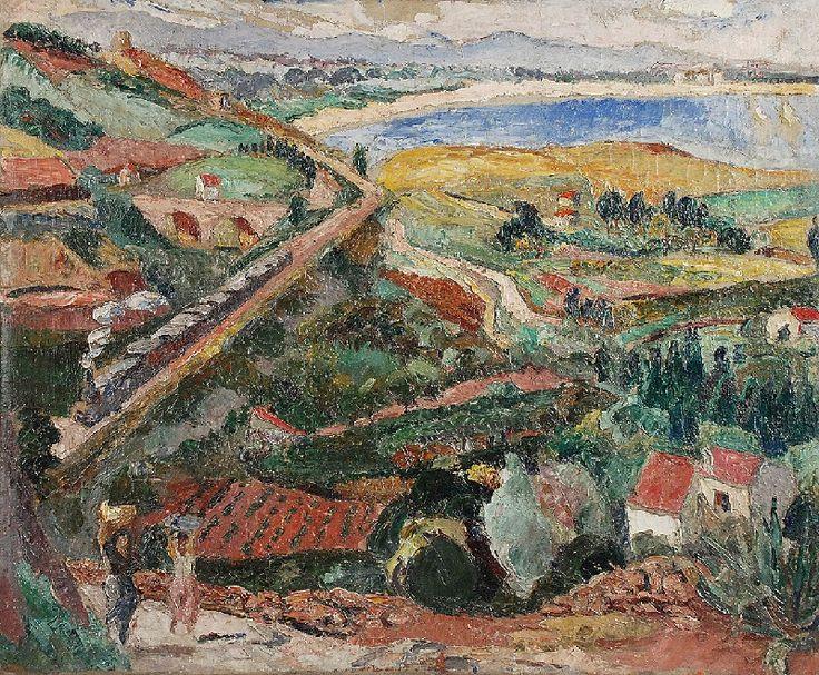 Mela MUTER (1876-1967)  Pejzaż, 1933 olej, płótno; 54 x 65 cm; sygn. na odwrocie, na krośnie: Muter