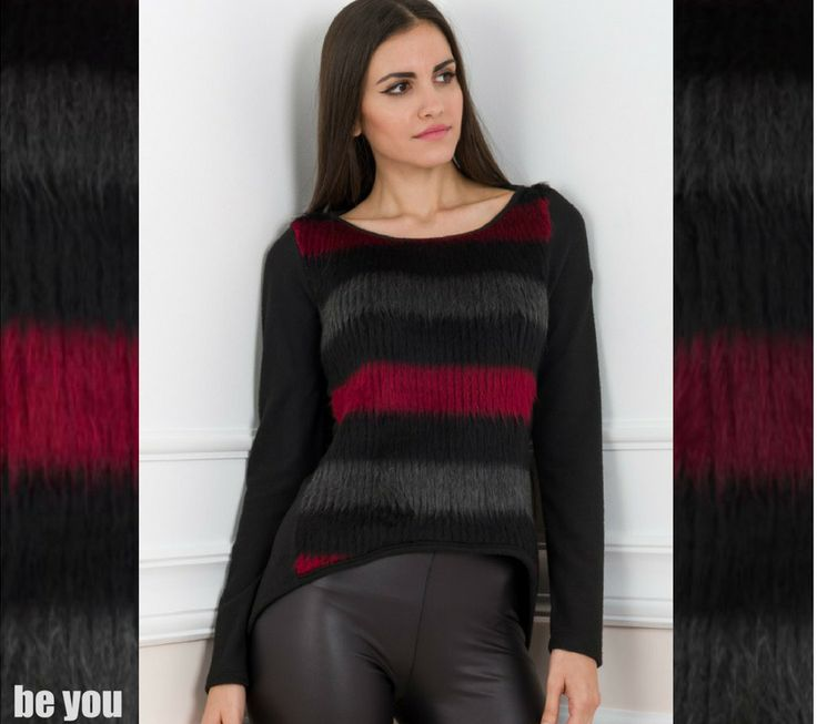 What to wear when the weather plays unfair!! μπλούζα > https://goo.gl/pQeg2K  #sweater #knits #stripes #beyoucomgr #newin