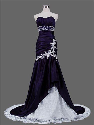 blue wedding dress and inexpensive wedding dress