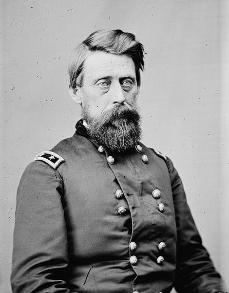 Jefferson Columbus Davis (March 2, 1828 – November 30, 1879) was an officer in the US Army who served in the Mexican-American War, the Civil War, & the Modoc War. He was the first commander of the Department of Alaska, from 1868 to 1870. Although successful in a number of Civil War battles, he is best remembered for two attributes: the similarity of his name to that of Confederate President Jefferson Davis & his murder of a superior officer during an argument in the Civil War.