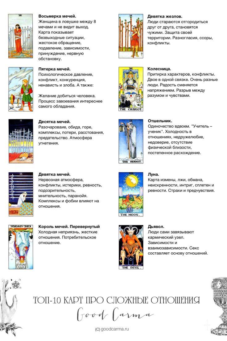 Топ-10 карт Таро про сложные отношения