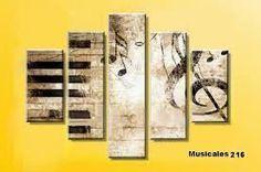 Resultado de imagen para cuadros de instrumentos musicales abstractos