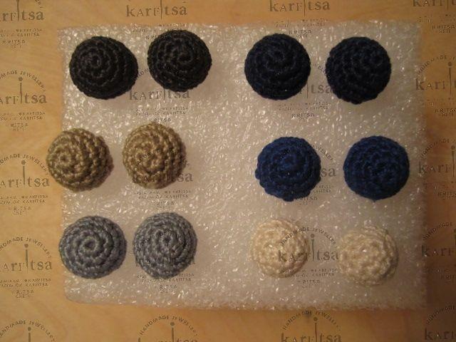 handmade knitted earings
