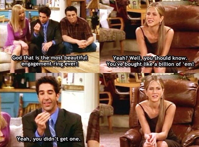 Ross and Rachel Friends tv show Funny quotes