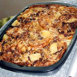 """Capirotada (Mexican Bread Pudding) 