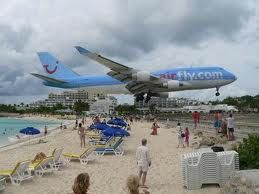 Maho beach popular for low flying planes landing in St Maarten  For further details visit www.microlifeindia.org