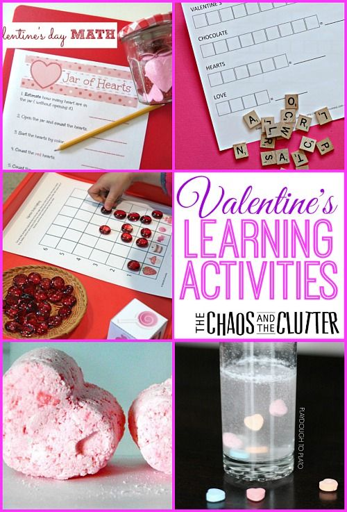 Valentine's Learning Activities including science, math, printables and sensory fun