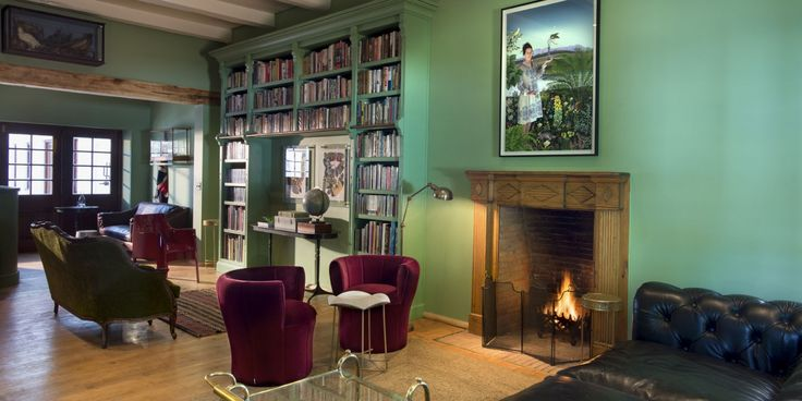The library at Babylonstoren's Farmhouse