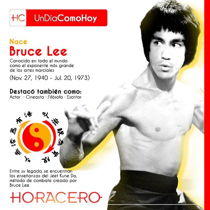 Un día como hoy, nace Bruce Lee, un gran maestro y filósofo, trasciende la muerte con las enseñanzas del Jeet Kune Do, su filosofía entre otras cosas