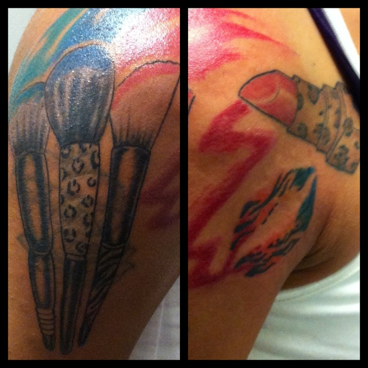 My #Tattoo #Makeup #Brushes #Lipstick #Lips #AnimalPrint | Tattoo Ideas | Pinterest | Makeup ...