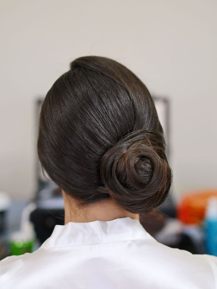 a very neat side bun. Perfect for a classic bridal hair look. Hair by Zoe Zhu Hair and Makeup www.zoezhu.com.au
