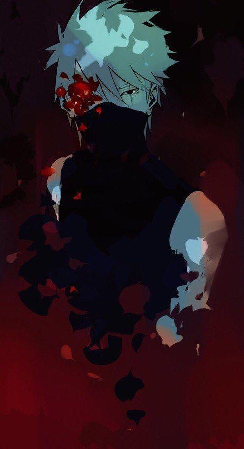 Imagen de anime, kakashi, and flower