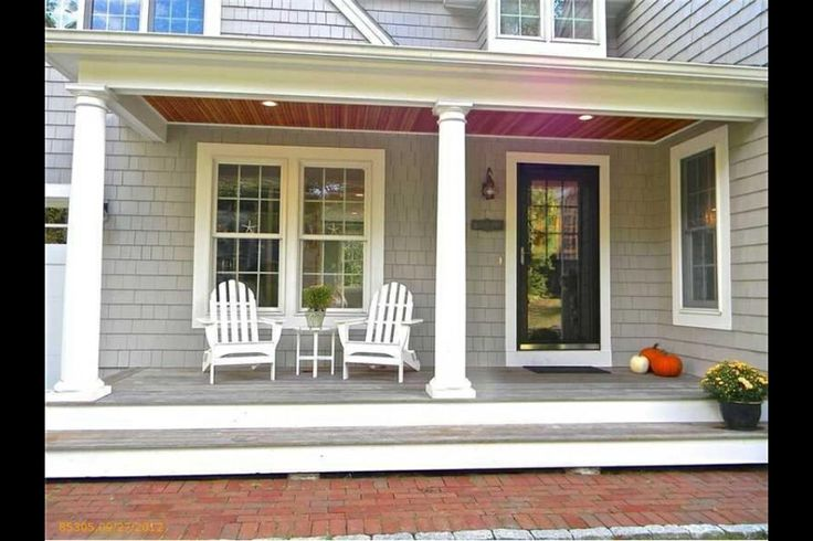 33 best front porch images on pinterest front porch for Uncovered patio ideas