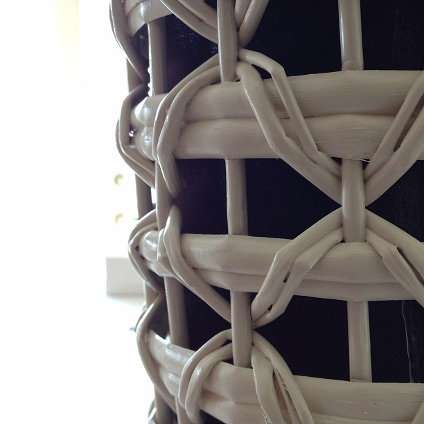 #basket #rattan #white #container #pattern by... | Wicker Blog  wickerparadise.com