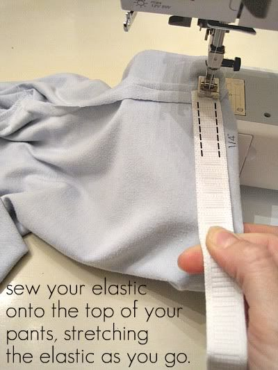 10 Minute t-shirt to kids pajama pants tutorial.