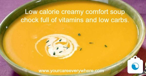 This alternative to a cream based soup is low in calories and chock full of vitamins A, C, and K, potassium, and beta carotene, with plenty of antioxidants and phytonutrients. And it's delicious.