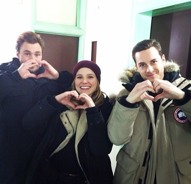 Love these guys so much!!! Sophia Bush, Jesse Lee Soffer, and Patrick John Flueger (Chicago PD)