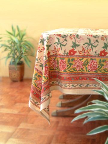 Floral tablecloth, Country tablecloth, Tropical tablecloth, Tablecloth Table, Cotton Tablecloth