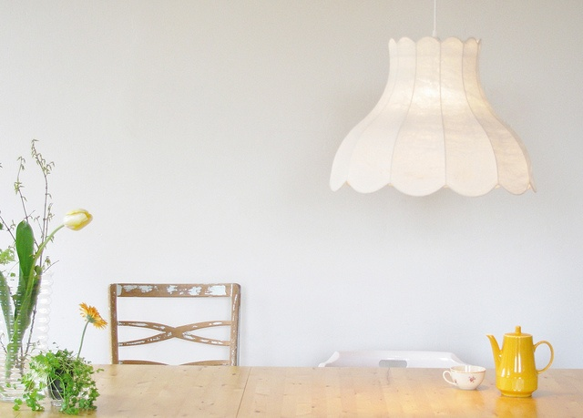 So delicate! White lampshade by marjolein perin textiledesigner
