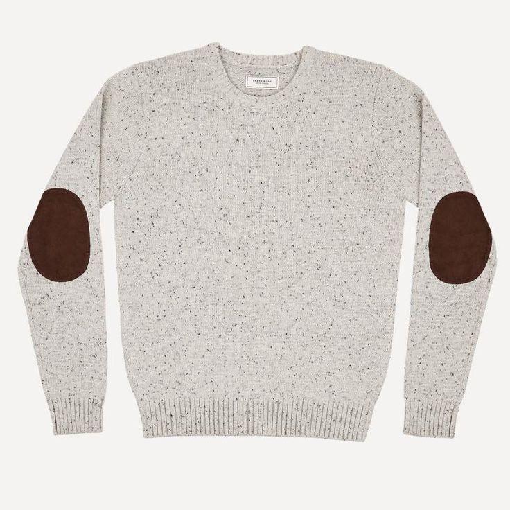 Flecked Donegal Wool Crew in Oatmeal | Frank & Oak