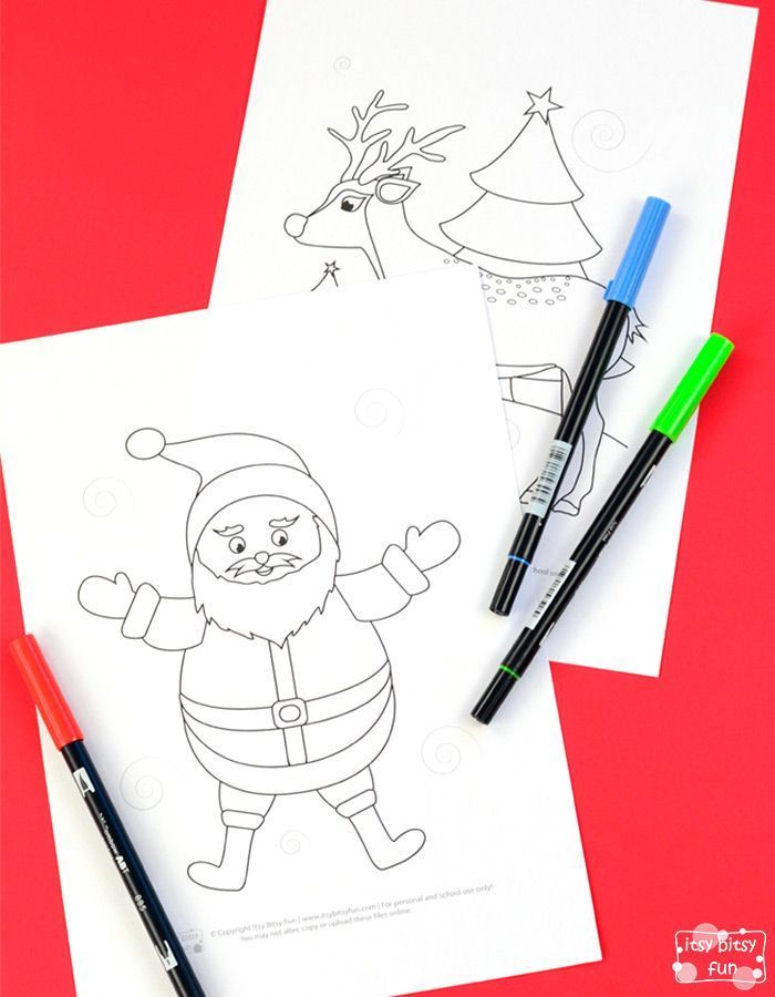 Christmas Coloring Pages for Kids | Navidad | Navidad