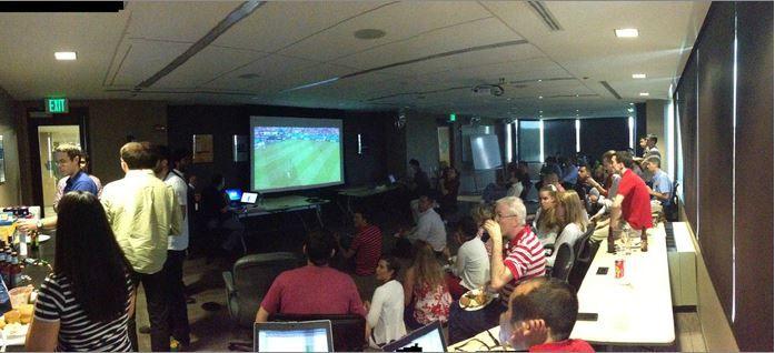USA vs Germany at Clarabridge HQ