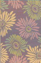Mad Mats Daisy Indoor/Outdoor Floor Mat, 4 by 6-Feet, Violet
