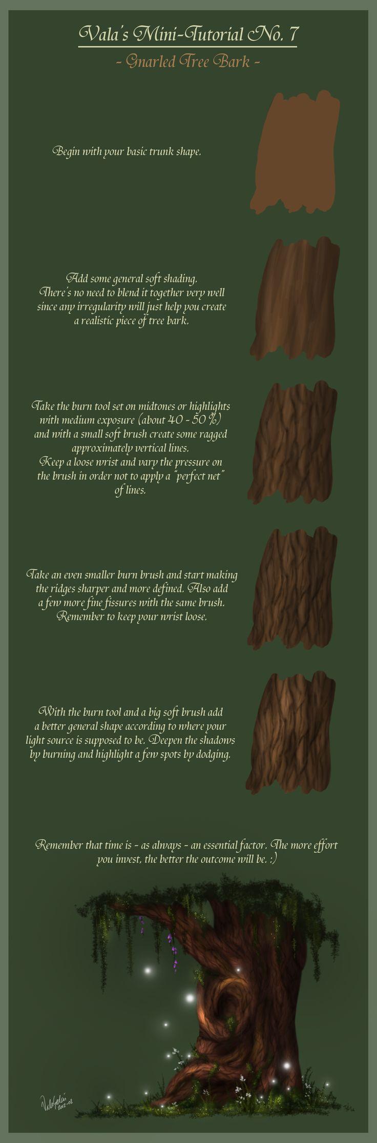 Mini-Tutorial No.7 - Gnarled Tree Bark - by ValaSedai on deviantART