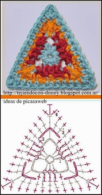 [세모세모 코바늘뜨기도안, 여러모로 유용해요^ㅇ^] crochet triangle모든이미지의 출처는 핀터레스트입니...