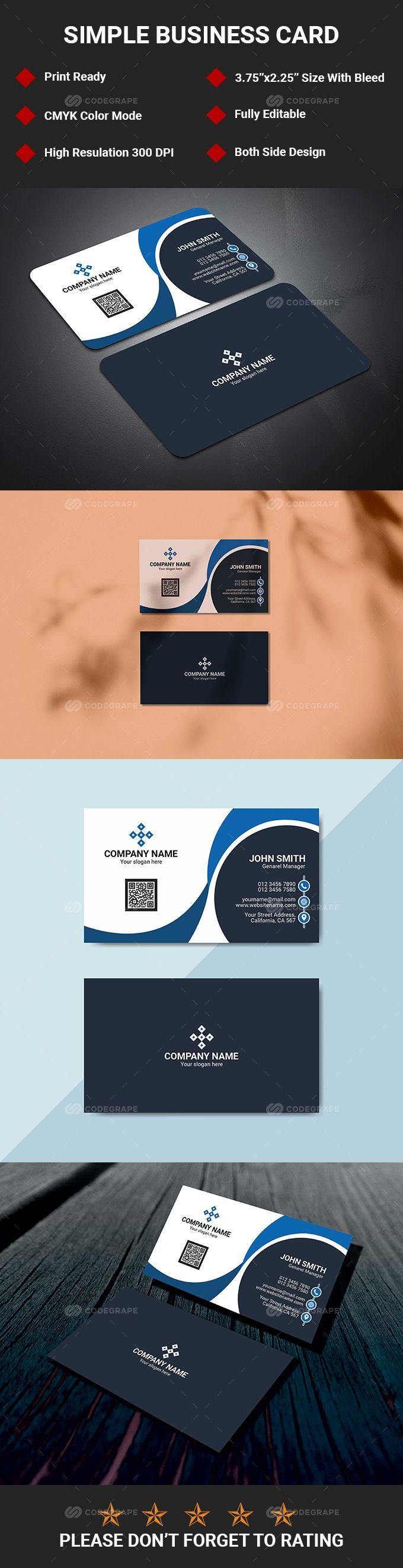 Clean Business Card Clean Business Card Design Cleaning Business Cards Business Card Maker