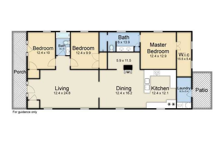 My favorite four bay floor plan they created a foyer for 2 bedroom shotgun house plans