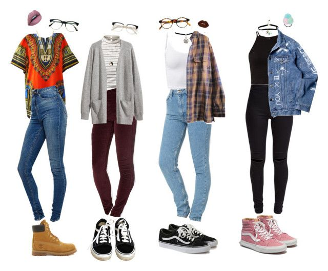 Indie School Outfits by stellaluna899 on Polyvore featuring H&M, Timberland, American Apparel, ASOS, New Look, Madewell, Vans, Marc by Marc Jacobs, François Pinton and Topshop