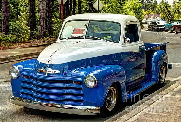 1951 Chevy Truck, two tone color. Taken at the car show that was part of the Treasures in the Park and Duck Daze celebration, held the 1st Saturday of June in University Place, WA.