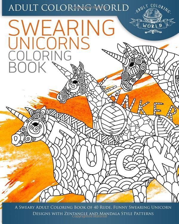 A Swearing Unicorn Bohemian Mandala Adult Coloring Book